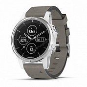 Смарт-часы Garmin Fenix 5S Plus Sapphire White with Suede Band